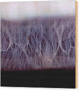 Digital Inversion Of Human Eye Wood Print by Raul Gonzalez Perez