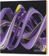 Digital Streak Image Of An Iris Wood Print