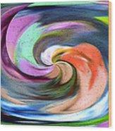Digital Swirl Of Color 2001 Wood Print