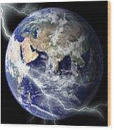 Digitally Enhanced Image Of The Full Wood Print