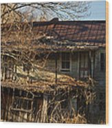 Dilapidated Farmhoue Wood Print
