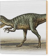 Dilophosaurus Wetherilli, A Prehistoric Wood Print
