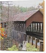 Dingleton Hill Covered Bridge Wood Print