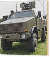 Dingo II Vehicle Of The Belgian Army Wood Print