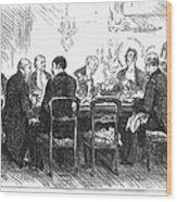 Dinner Party, 1880 Wood Print