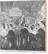 Dinner Party, 1885 Wood Print