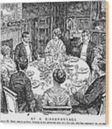 Dinner Party, 1915 Wood Print