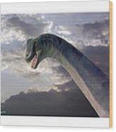 Dinosaur Sky Wood Print