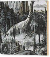 Dinosaurs Wood Print