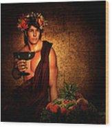 Dionysus Wood Print by Lourry Legarde