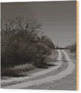 Dirt Road Wood Print