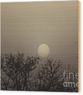 Dirt Storm Sunset Natural Color Of It Wood Print