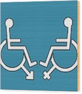 Disability Sexuality, Conceptual Artwork Wood Print by Stephen Wood