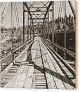 Discarded Bridges Wood Print
