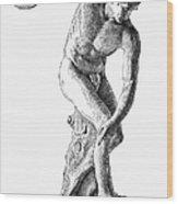 Discobolus Casting Wood Print