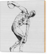 Discus Thrower Wood Print