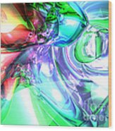 Disorderly Color Abstract Wood Print