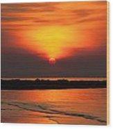 Distant Sun Wood Print