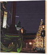 Distillery District Holiday Night Wood Print