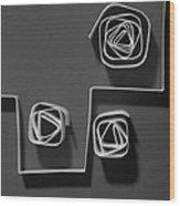 Divide Wood Print