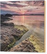 Divine Sunset Wood Print