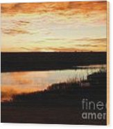 Dixon Reservoir Sunrise Wood Print