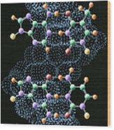 Dna Molecule Wood Print