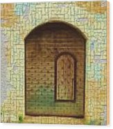 Do-00489 Old Door Within A Door-crackles Wood Print