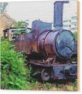 Do-00504 Train In Mar Mickael Wood Print