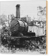 Do-00508 Mar Mikhael Train Bw Wood Print