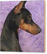 Doberman In Profile Wood Print