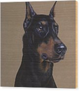 Doberman Pinscher Wood Print by Patricia Ivy