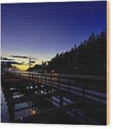 Dock At Lock 23 Wood Print