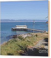 Dock At Point Reyes Calfornia . 7d16069 Wood Print