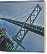 Dock By The San Francisco Bay Bridge Wood Print