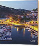 Dock In Douro River Wood Print
