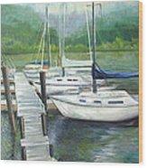 Dock Side Wood Print by Max Mckenzie