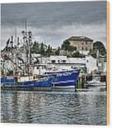 Docked For The Storms Wood Print by Dan Crosby