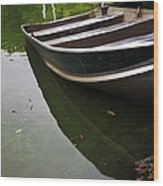 Docked In Central Park Wood Print