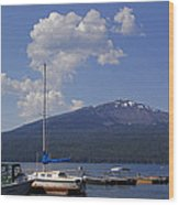 Docks At Diamond Lake Wood Print