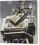 Dockside Crane Wood Print