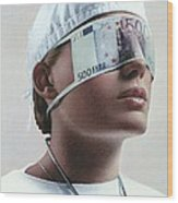 Doctor Blinded By Money, Conceptual Image Wood Print
