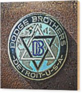 Dodge Brothers Badge Wood Print by Steve McKinzie