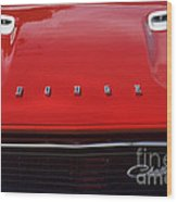 Dodge Challenger Hood And Grill Wood Print