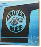 Dodge Charge Super Bee Logo  Wood Print