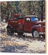 Logging Fire Truck Wood Print