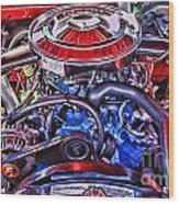 Dodge Motor Hdr Wood Print