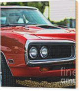 Dodge Super Bee Classic Red Wood Print by Paul Ward