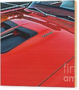 Dodge Super Bee Hood  In Red Wood Print