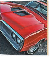 Dodge Super Bee In Red Wood Print